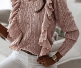 Old pink knit _