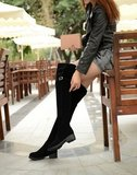 Flat over knee boots_