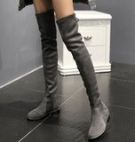 Flat fashion over knee boots_