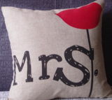 Mr and Mrs pillowcase_