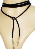 Black Long Choker Necklace _