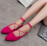Suede Flat Shoes _