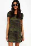 Camouflage t-shirt dress_