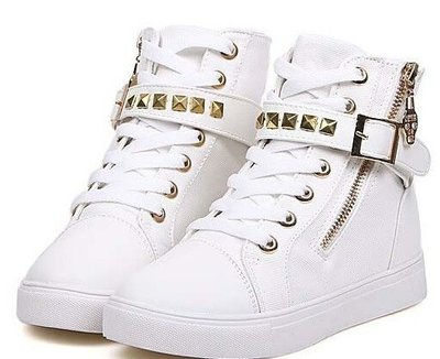 White studs shoes