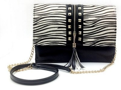 Zebra Lady Clutch