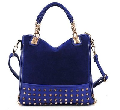 Blue Studs Shoulder Bag
