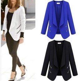 Casual zipper blazer