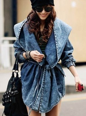 Denim oversize jacket