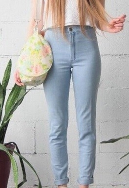 Colour highwaist jeans