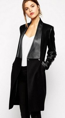 Black Leather Long Coat