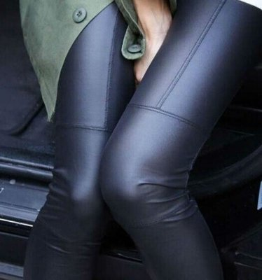 Slim leather legging