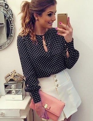 Dot Lady Blouse