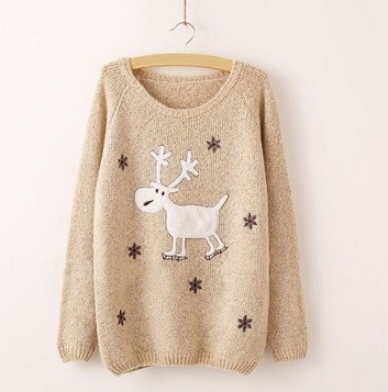Beige Winter Sweater