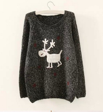 Darkgrey winter sweater
