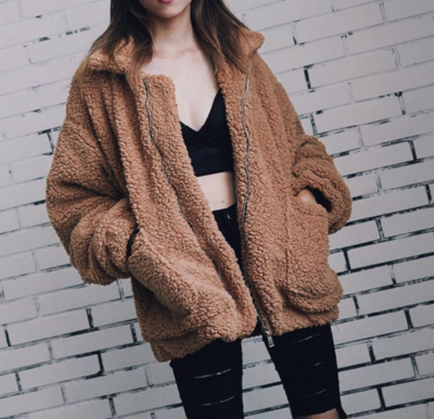 Short Teddy coat