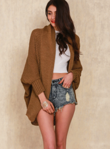 Brown Girly Cardigan