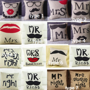 Mr and Mrs pillowcase