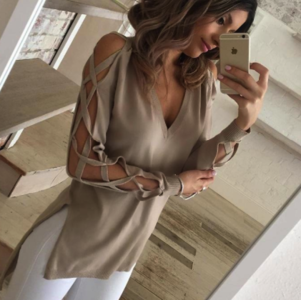 Lady Criss Cross Pullover